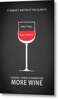 Wine Glasses 1 Metal Print by Mark Rogan