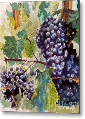 Wine Grapes Metal Print by William Reed