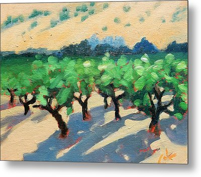 Metal Print featuring the painting Wine Habitat by Gary Coleman