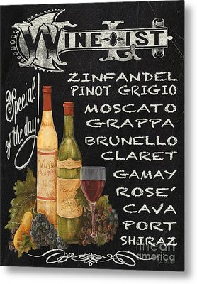 Wine List-jp3585 Metal Print by Jean Plout