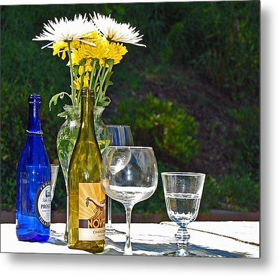 Wine Me Up Metal Print by Debbi Granruth