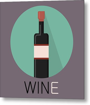 Wine Poster Print - Win And Wine Metal Print