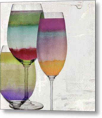Wine Prism Metal Print by Mindy Sommers