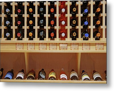 Metal Print featuring the photograph Wine Rack - 1 by Nikolyn McDonald