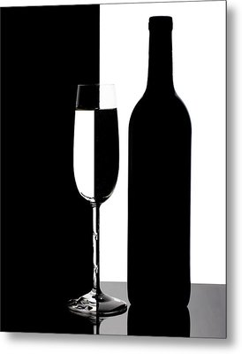 Wine Silhouette Metal Print by Tom Mc Nemar