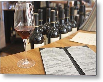 Wine Tasting At Artesia Winery Napa Valley Metal Print by Diane Leone