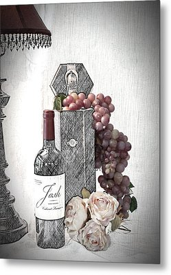 Metal Print featuring the photograph Wine Tasting Evening by Sherry Hallemeier