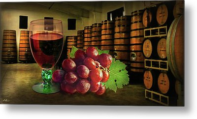 Metal Print featuring the photograph Wine Tasting by Hanny Heim