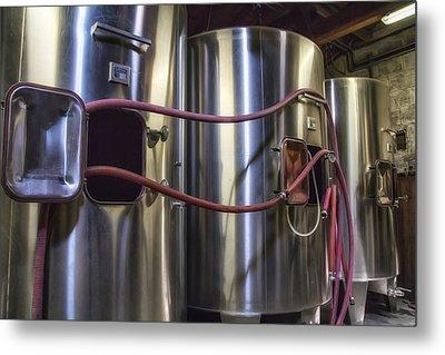 Wine Vats In Bordeaux Metal Print