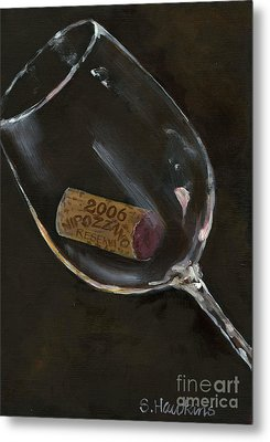 Wine With Dinner Metal Print by Sheryl Heatherly Hawkins