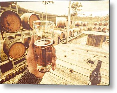 Winery Tours Tasmania Metal Print by Jorgo Photography - Wall Art Gallery