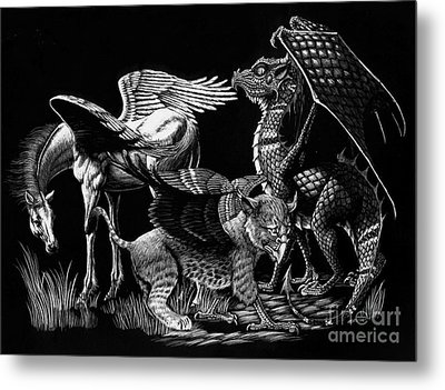Winged Hatchlings Metal Print by Stanley Morrison