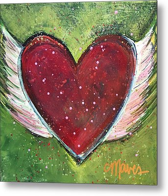 Winged Heart Number 1 Metal Print by Laurie Maves ART