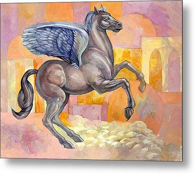 Winged Horse Metal Print by Filip Mihail
