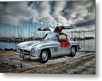 Metal Print featuring the photograph Winged Merc by Steven Agius