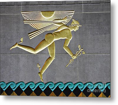 Metal Print featuring the photograph Winged Mercury by Sarah Loft