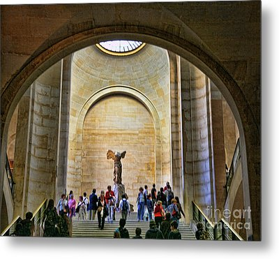 Winged Samothrace Louvre  Metal Print by Chuck Kuhn