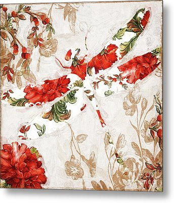 Winged Tapestry II Metal Print by Mindy Sommers