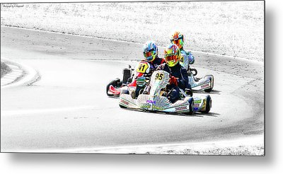 Wingham Go Karts 04 Metal Print by Kevin Chippindall