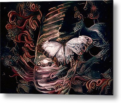 Wings Of The Night Metal Print by Susan Maxwell Schmidt