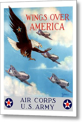 Wings Over America - Air Corps U.s. Army Metal Print by War Is Hell Store