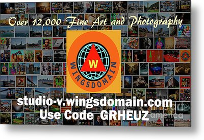 Metal Print featuring the photograph Wingsdomain Art And Photography Holiday 2016 Discount Code Grheuz Ends Jan 1 2017 by Wingsdomain Art and Photography