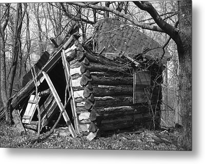 Winslowcabinhorizontal Metal Print by Curtis J Neeley Jr