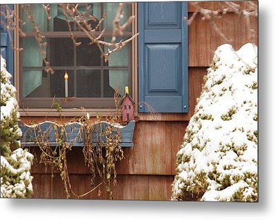 Winter - A Winters Morning Metal Print by Mike Savad