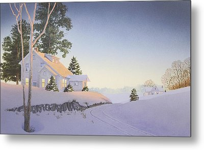 Winter Afterglow Metal Print