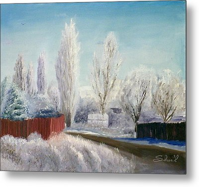 Metal Print featuring the painting Winter At Bonanza by Sherril Porter
