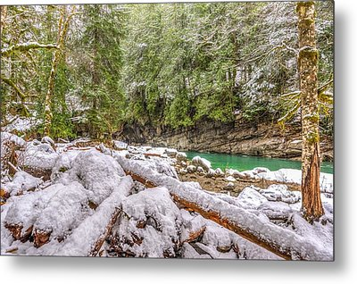 Winter At Eagle Falls Metal Print by Spencer McDonald