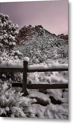 Metal Print featuring the photograph Winter At Garden Of The Gods by Ellen Heaverlo
