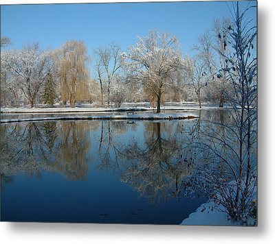 Winter At Hidden Lakes Metal Print by Gregory Jeffries