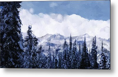 Winter At Revelstoke Metal Print