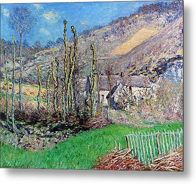 Winter At The Val De Falaise Metal Print by Claude Monet