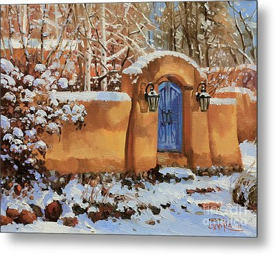 Winter Beauty Of Santa Fe Metal Print