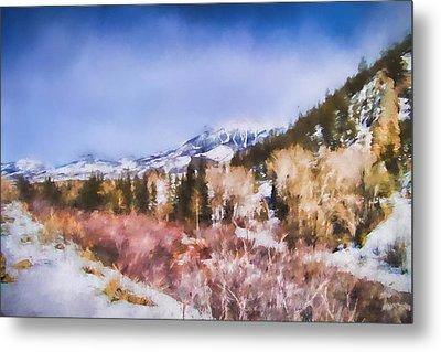 Winter Beginnings In Colorado Landscape Art By Jai Johnson Metal Print