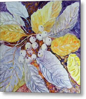 Metal Print featuring the painting Winter Berries by Joanne Smoley