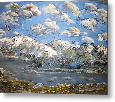 Metal Print featuring the painting Winter Blues by Dan Whittemore