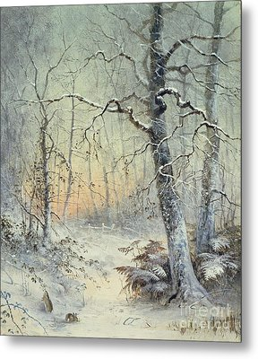 Winter Breakfast Metal Print
