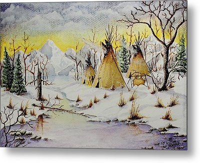 Winter Camp Metal Print by Jimmy Smith