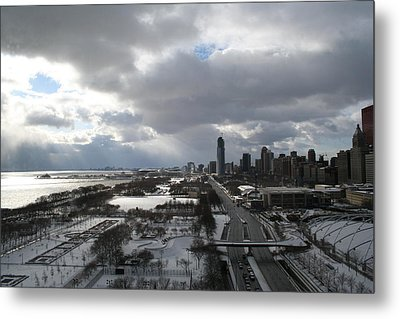 Winter Clouds Over Grant Park Metal Print by Gregory Jeffries