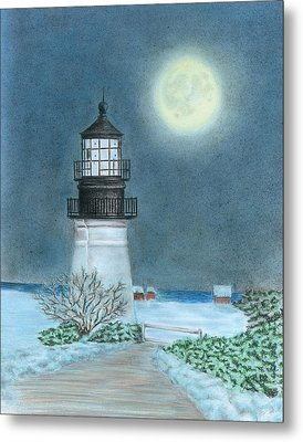 Winter Coast Metal Print by Troy Levesque