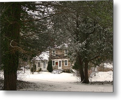 Winter Cottage Metal Print by Gordon Beck
