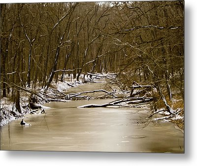 Metal Print featuring the photograph Winter Creek by Bonnie Willis