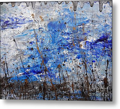 Metal Print featuring the painting Winter Crisp by Jacqueline Athmann