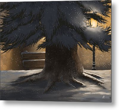 Winter Day Metal Print by Veronica Minozzi