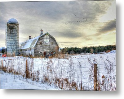 Metal Print featuring the digital art Winter Days In Vermont by Sharon Batdorf