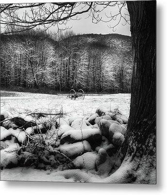 Winter Dreary Square Metal Print