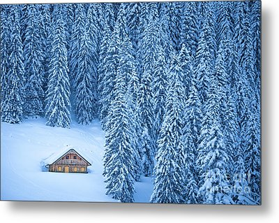 Winter Escape Metal Print by JR Photography